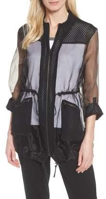 Ming Wang Sheer Jacket