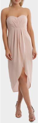 Miss Shop Strapless Georgette Tullip Skirt Dress