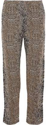 Giorgio Armani Cropped Metallic Bouclé-Knit Straight-Leg Pants
