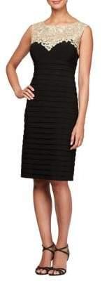 Alex Evenings Textured Sheath Dress