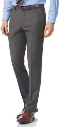 Charles Tyrwhitt Grey Slim Fit Italian Twill Luxury Suit Wool Pants Size W30 L38