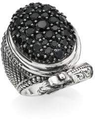 Konstantino Circe Sterling Silver& Black Spinel Dragon Ring - Silver - Size Size 7