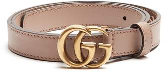 GUCCI GG-logo 2cm leather belt $330 thestylecure.com