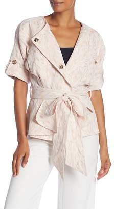Badgley Mischka Short Sleeve Waist Jacket