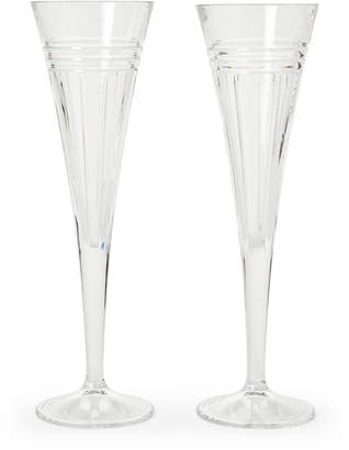 Reed & Barton Set of Two Crystal Toasting Flutes