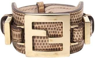 Fendi Beige Leather Bracelets