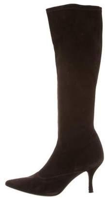 Stuart Weitzman Pointed-Toe Knee-High Boots