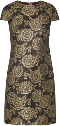 Sam Edelman Brocade Cap Sleeve Dress