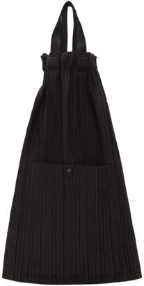 Pleats Please Issey Miyake Black Pleated Lightweight Backpack