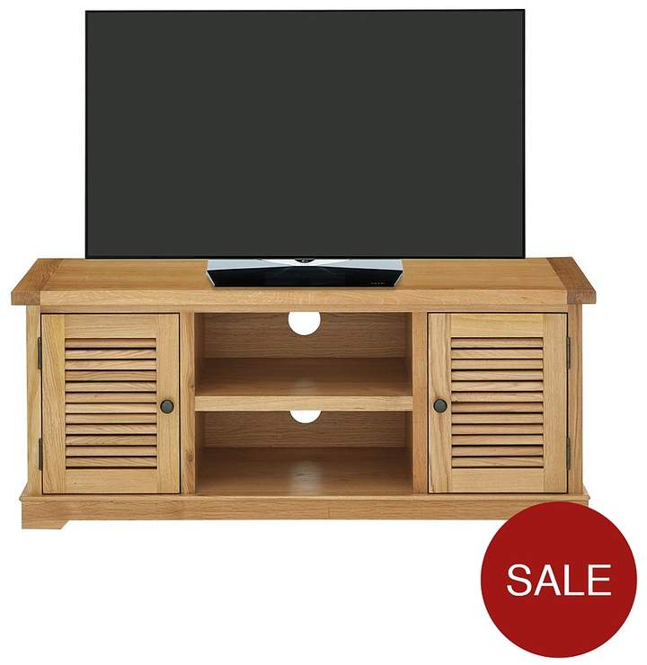 Luxe Collection - Hastings Oak Ready Assembled TV Unit - Fits Up To 50 Inch TV