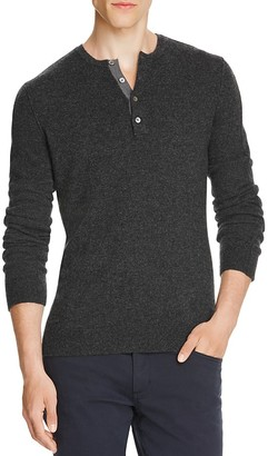 Vince Cashmere Henley Sweater $335 thestylecure.com