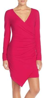 Adelyn Rae Ruched Jersey Sheath Dress