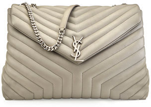Saint Laurent Loulou Monogram Y-Quilted XL Slouchy Chain Shoulder Bag $2,550 thestylecure.com