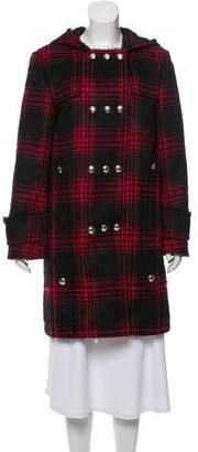 Alexander Wang Plaid Hooded Coat w/ Tags