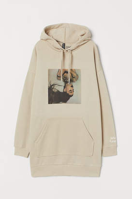 H&M Oversized Hooded Sweatshirt - Beige