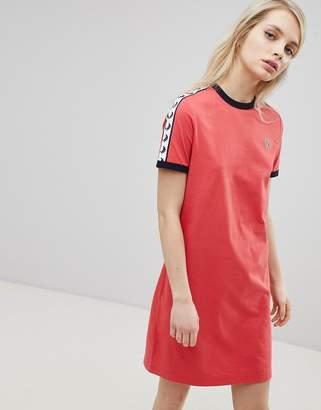 Fred Perry Logo Tape Ringer T-Shirt Dress