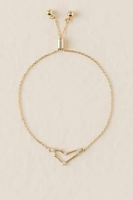 francesca's Capricorn Pull Tie Bracelet - Gold