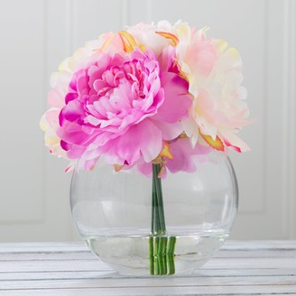 Pure Garden Artificial Peony Floral Arrangement