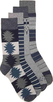 Lucky Brand Geometric Crew Socks - 4 Pack - Men's