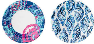 Lilly Pulitzer Gypsea Girl Melamine Appetizer Plates, Set of 4