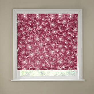 Floral Blackout Roller Blind - 2ft - Red