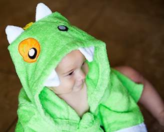 Baby Steps BabySteps Baby-Steps, Green Monster Hooded Bathrobe and Towel, 0-12 Months, Bath Robe Baby Shower Gift. Free Gift Box with Purchase!