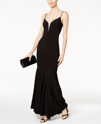 Betsy & Adam Illusion Mesh Mermaid Gown $249 thestylecure.com