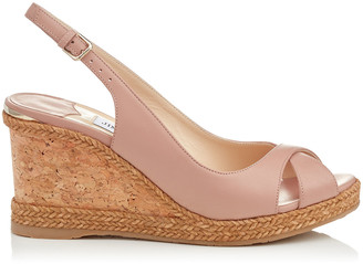 4c7ec68690d Jimmy Choo AMELY 80 Ballet Pink Nappa Leather Slingback Wedges