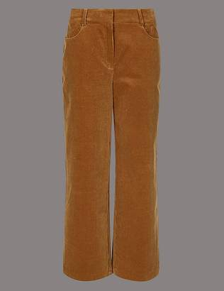 Marks and Spencer Cotton Rich Textured Corduroy Trousers