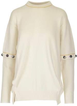 Chloé Removable Ribbed Sleeve Detail Sweatshirt