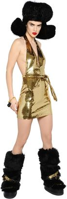 Sequined Tulle Halter Dress $3,195 thestylecure.com