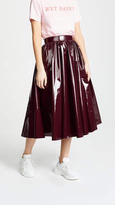 MSGM Faux Patent Full Skirt