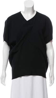Balenciaga Gathered Asymmetrical Top