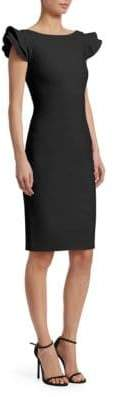 Chiara Boni Cedric Ruffle Sleeve Dress