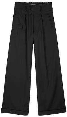 Off-White Off White Black Wide-leg Trousers