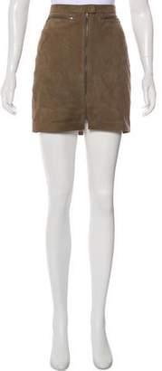 ATM Anthony Thomas Melillo Leather Mini Skirt