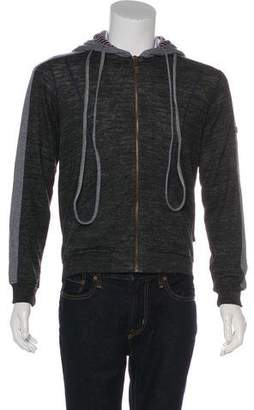 Just Cavalli Woven Striped Hoodie