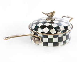 Mackenzie Childs Courtly Check 3-Quart Saute Pan