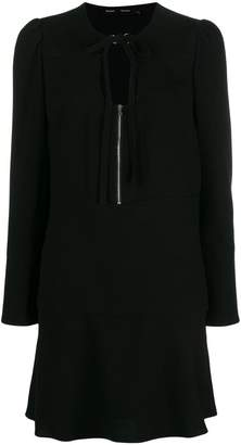 Proenza Schouler Textured Crepe U-Neck Dress