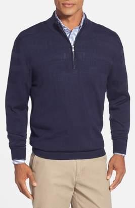 Cutter & Buck 'Douglas' Merino Wool Blend Half Zip Sweater