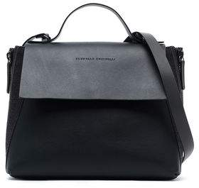 Brunello Cucinelli Bead-embellished Leather Shoulder Bag