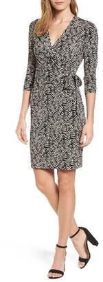 Women's Anne Klein Print Wrap Dress $99 thestylecure.com