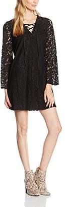 boohoo Women's Sophia Lace up Flute Sleeve Dress