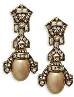 Heidi Daus Deco Faux Pearl Drop Earrings