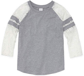 Arizona Lace Sleeve Football Tee - Girls' 4-16 & Plus
