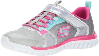 Skechers Kid's Speed Trainer - Glimmer Time Sneakers, Grey/Silver/ Multi