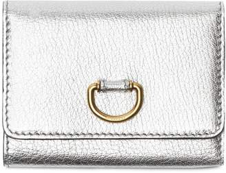 Burberry Small D-ring Metallic Leather Wallet
