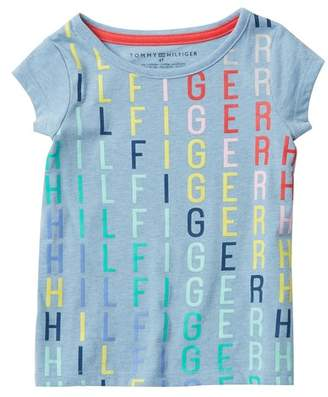 Tommy Hilfiger Rainbow Logo Tee (Toddler Girls)