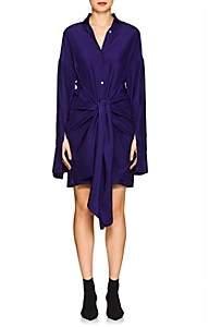 Ji Oh Women's Silk Wrap Dress - Purple