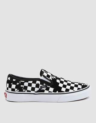 Vans Classic Slip-On Sneaker in Overprint Check